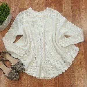 [Anthropologie] Nulia Circle Hem Poncho Sweater
